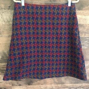 10 Boden British Tweed Wool Fully Lined Skirt